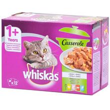 Whiskas Casserole Hrana za mačke miješani izbor 12x85 g