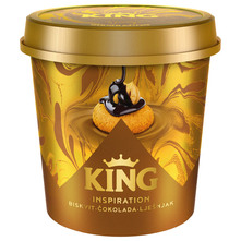 King Inspiration Sladoled biskvit, čokolada i lješnjak 450 ml