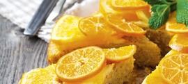 Kolač od kukuruznog griza s narančom i mandarinom