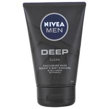 Nivea Men Deep Clean gel za pranje lica i brade 100 ml