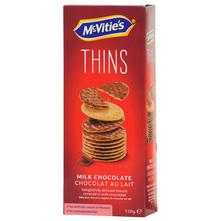 McVities Thins Keksi mliječna čokolada 150 g