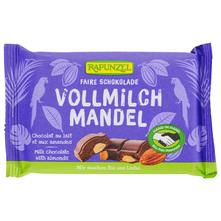 Rapunzel Mliječna čokolada s bademima eko 100 g