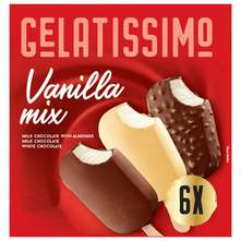 Gelatissimo Sladoled vanilla mix 6x100 ml