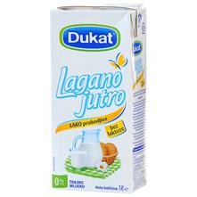 Dukat Lagano jutro Trajno mlijeko bez laktoze 0% m.m. 1 l