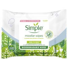 Simple Kind To Skin Biorazgradive micelarne maramice za čišćenje lica 20/1