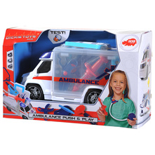 Dickie Push&Play Auto ambulanta s opremom 33 cm