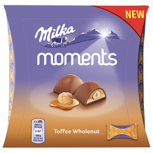 Milka Moments Praline toffee wholenut 97 g