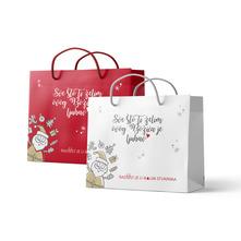 Božićna ukrasna vrećica razne boje 23x10x20 cm