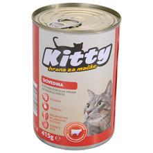 Kitty Hrana za mačke govedina 415 g