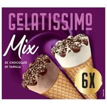 Gelatissimo Sladoled Mix čokolada i vanilija 6x110ml