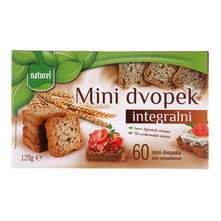 Naturel Integralni mini dvopek 120 g
