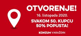 Otvorenje u Varaždinu! Svakom 50. kupcu 50% popusta!