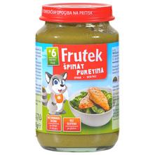 Frutek Kašica od špinata s puretinom 190 g