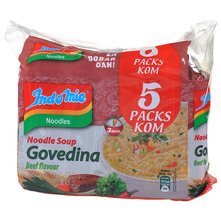 Indomie Noodles Instant juha s tjesteninom okusa govedina 5x70 g