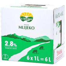 Z bregov Trajno mlijeko 2,8% m.m. 6x1 l