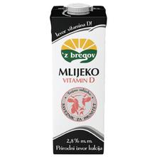 Z bregov Mlijeko vitamin D 2,8% m.m. 1 l