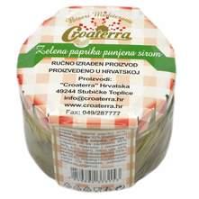Paprika zelena punjena sirom 230 g Croaterra