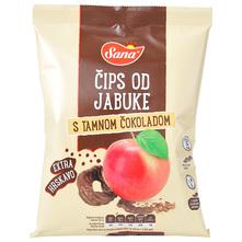 Sana Čips od jabuke s tamnom čokoladom 50 g
