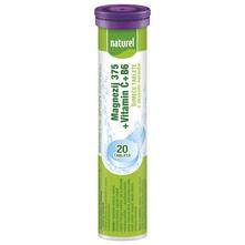 Naturel Magnezij 375+Vitamin C+B6 šumeće tablete 80 g