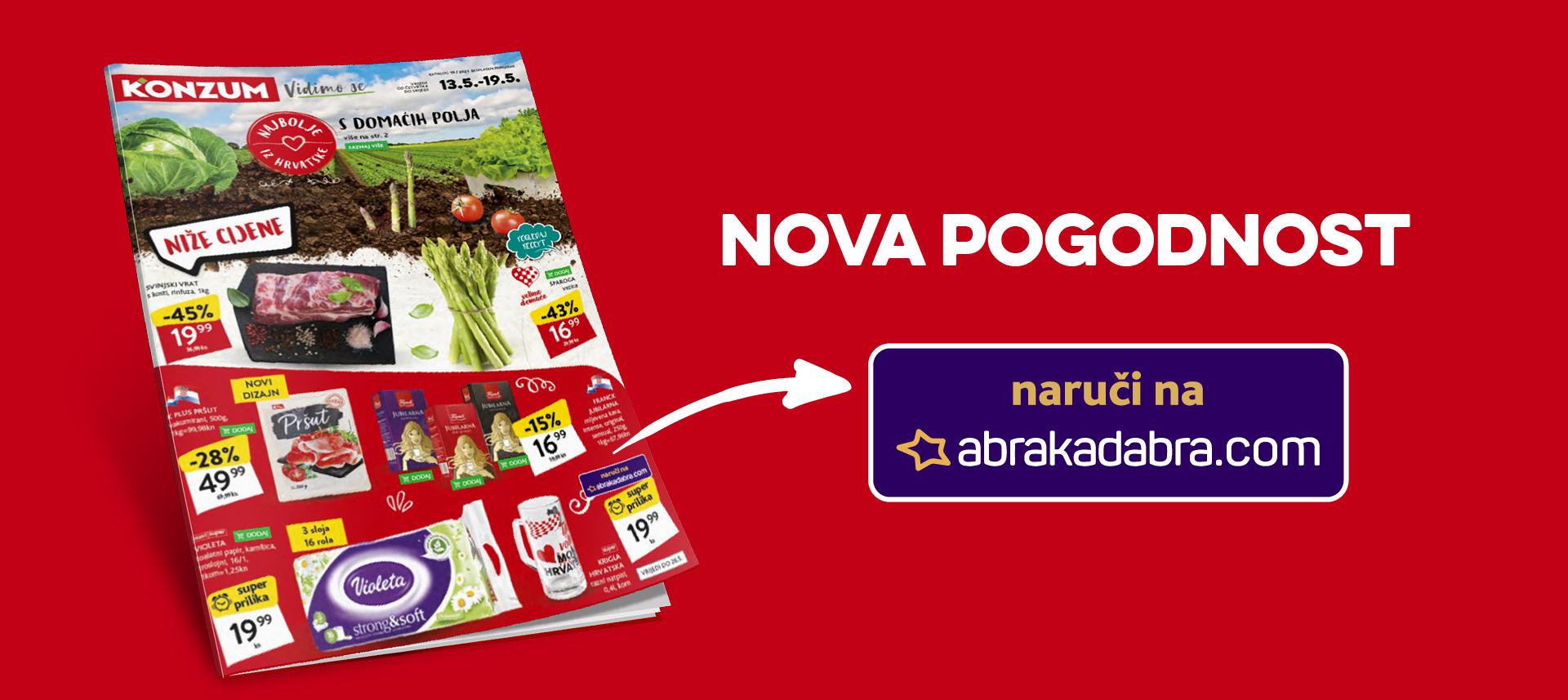 Nova pogodnost - odabrane proizvode možete naručiti i u Abrakadabra webshopu