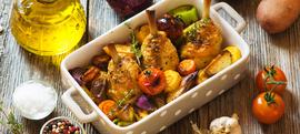 Hrskavo pečena piletina s povrćem