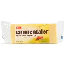 K Plus Emmentaler Tvrdi punomasni sir 300 g