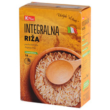 K Plus Integralna riža 1 kg