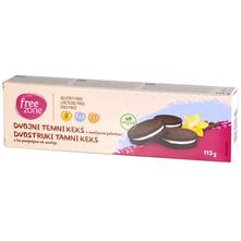 Free Zone Dvostruki tamni keks s punjenjem od vanilije bez glutena 115 g