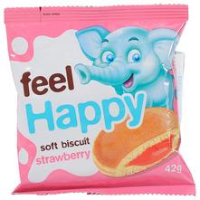 Feel Happy Biskvit jagoda 42 g