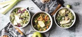 Brze zimske salate s piletinom (na zelenoj podlozi)