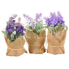 Umjetni cvijet u posudi razne vrste 7x7x17 cm