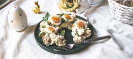 Salata od pečenih mladih krumpira i kuhanih jaja