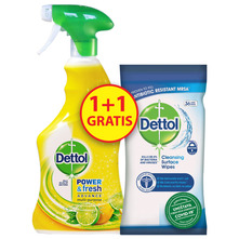 Dettol Lemon 500 ml + Dettol Maramice za dezinfekciju površina 36/1