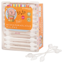 Toto Baby Biorazgradivi štapići za uši 60/1