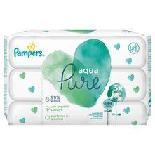 Pampers Aqua Pure Vlažne maramice 3x48 komada