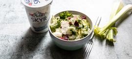 Salata s piletinom, celerom i krastavcima i dressingom od skyra i kopra