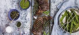 Maturo steak s pestom od graška i kapara