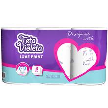 Teta Violeta Love Print Papirnati ručnici 3 sloja 3/1