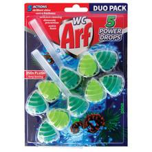 Arf WC 5 Power Drops Osvježivač wc školjke pine 2x55 g