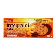 Integralni keks naranča/tamna čokolada K Plus 210 g