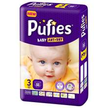 Pufies Baby Art Dry Pelene, veličina 3 (Midi) 4-9 kg 66/1
