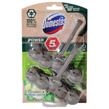 Domestos Power 5 Osvježivač za wc školjku cucumber & fresh leaves 2x55 g