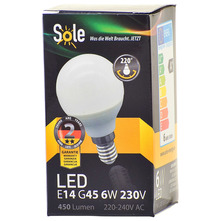 Sole LED žarulja 6W E14