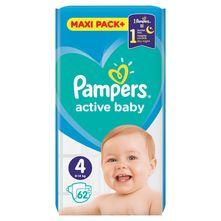 Pampers Active Baby Pelene, veličina 4 (Maxi) 9-14 kg 62/1