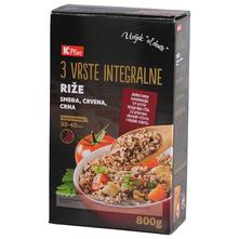 K Plus Integralna riža 3 vrste 800 g