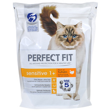 Perfect Fit Sensitive 1+ Hrana za mačke puretina 750 g