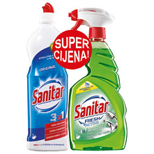 Sanitar Original 3u1 750 ml+Sanitar Fresh Active spray 650 ml