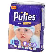 Pufies Baby Art+Dry Pelene, veličina 2 (Mini) 74/1