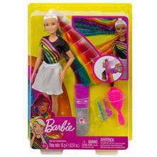 Barbie Lutka sjajna kosa duginih boja