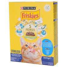 Friskies 5 Promises Sterilized Hrana za mačke losos i tuna s povrćem 300 g